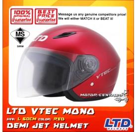 LTD HELMET VTEC MONO RED