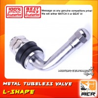 METAL TUBELESS VALVE L SHAPE