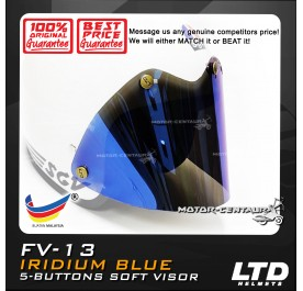 LTD 5 BUTTON SOFT VISOR FV-13 IRIDIUM BLUE