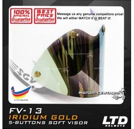 LTD 5 BUTTON SOFT VISOR FV-13 IRIDIUM GOLD