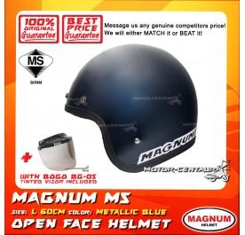MAGNUM M5 HELMET BLUE + BOGO BG-05 TINTED VISOR