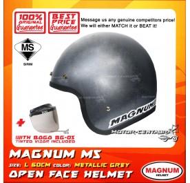 MAGNUM M5 HELMET GREY + BOGO BG-05 TINTED VISOR