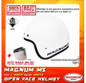 MAGNUM M5 HELMET WHITE + BOGO BG-05 TINTED VISOR