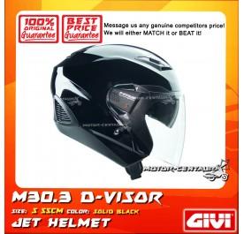 GIVI JET HELMET M30.3 D-VISOR S SOLID BLACK