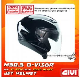 GIVI JET HELMET M30.3 D-VISOR XL SOLID BLACK
