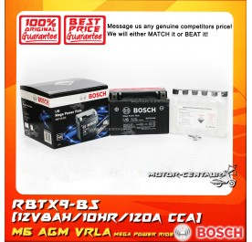 BOSCH VRLA AGM BATTERY M6 MEGA POWER RIDE RBTX9-BS (YTX9/0092M67134)