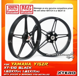 XTERO SPORT RIM XT-510 1.60X17(F) 1.85X17(R) Y15ZR BLACK
