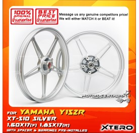 XTERO SPORT RIM XT-510 1.60X17(F) 1.85X17(R) Y15ZR SILVER