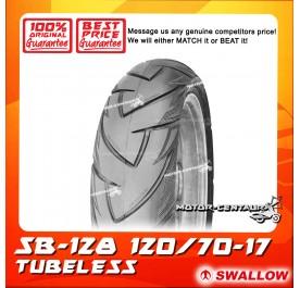 SWALLOW TUBELESS TYRE SB128 SAMURAI 120/70-17