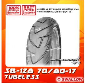 SWALLOW TUBELESS TYRE SB128 SAMURAI 70/80-17