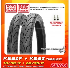 KENDA TUBELESS TYRE K682 70/90-17 + 80/90-17