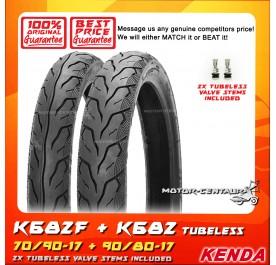 KENDA TUBELESS TYRE K682 70/90-17 + 90/80-17