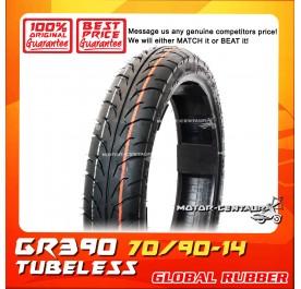 GLOBAL RUBBER TUBELESS TYRE GR390 70/90-14