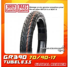 GLOBAL RUBBER TUBELESS TYRE GR390 70/90-17