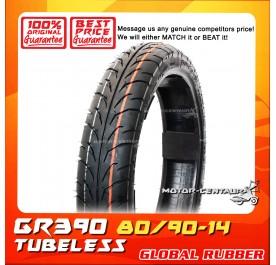 GLOBAL RUBBER TUBELESS TYRE GR390 80/90-14