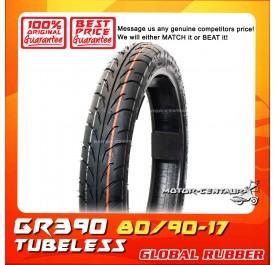 GLOBAL RUBBER TUBELESS TYRE GR390 80/90-17