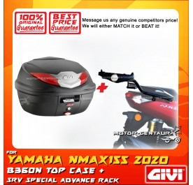 GIVI B360N TOP CASE + GIVI YAMAHA NMAX155 (MODEL AFTER 2020) SRV SPECIAL RACK