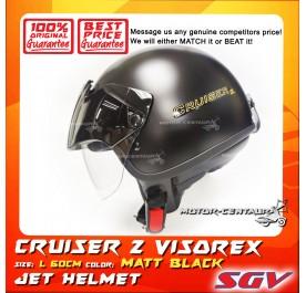 SGV HELMET CRUISER VISOREX MATT BLACK