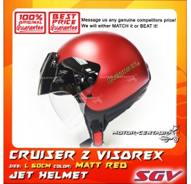 SGV HELMET CRUISER VISOREX MATT RED