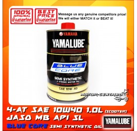 YAMALUBE (HLY) AT SCOOTER ENGINE LUBRICANT SAE 10W40 BLUE CORE [1.0L]