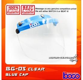 BOGO VISOR BG-05 CLEAR, BLUE-CAP