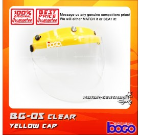 BOGO VISOR BG-05 CLEAR, YELLOW-CAP