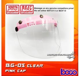 BOGO VISOR BG-05 CLEAR, PINK-CAP