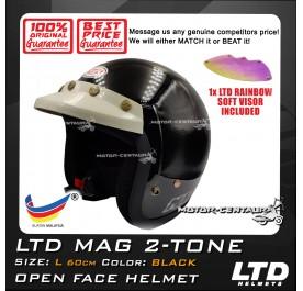 LTD HELMET MAG BLACK + SOFT VISOR FV-13 IRIDIUM RAINBOW