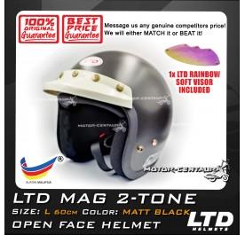 LTD HELMET MAG MATT BLACK + SOFT VISOR FV-13 IRIDIUM RAINBOW