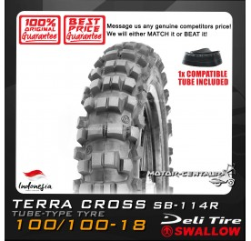 SWALLOW TYRE TERRA CROSS SB-114R 100/100-18 WITH FKR TUBE