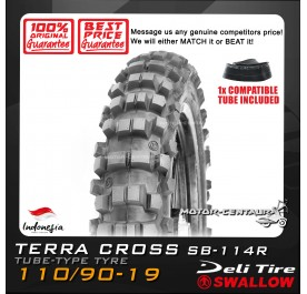 SWALLOW TYRE TERRA CROSS SB-114R 110/90-19 WITH FKR TUBE