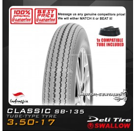 SWALLOW TYRE CLASSIC SB-135 3.50-17 WITH FKR TUBE