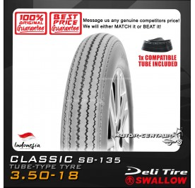 SWALLOW TYRE CLASSIC SB-135 3.50-18 WITH FKR TUBE