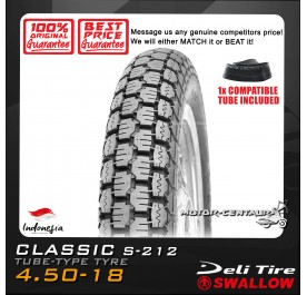 SWALLOW TYRE CLASSIC S-212 4.50-18 WITH FKR TUBE