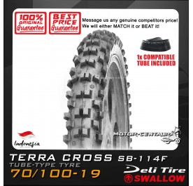 SWALLOW TYRE TERRA CROSS SB-114F 70/100-19 WITH FKR TUBE
