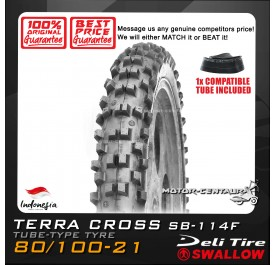 SWALLOW TYRE TERRA CROSS SB-114F 80/100-21 WITH FKR TUBE