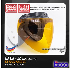 BOGO VISOR BG-25(JET) ORANGE, BLACK-CAP