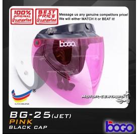 BOGO VISOR BG-25(JET) PINK, BLACK-CAP