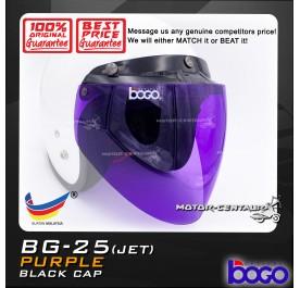 BOGO VISOR BG-25(JET) PURPLE, BLACK-CAP