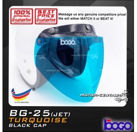 BOGO VISOR BG-25(JET) TURQUOISE, BLACK-CAP