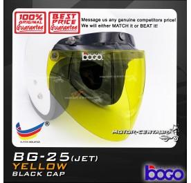 BOGO VISOR BG-25(JET) YELLOW, BLACK-CAP