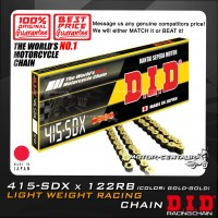 DID ROAD RACING CHAIN 415-SDX X 122RB GOLD-GOLD JAPAN