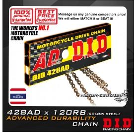 DID ADVANCED DURABILITY CHAIN 428AD X 120RB STEEL THAILAND