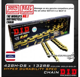 DID HYPER DURABILITY SPEC CHAIN 428H-DS X 132RB GOLD THAILAND