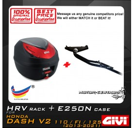 GIVI E250N TOP CASE + GIVI HONDA DASH V2 HRV HEAVY DUTY RACK