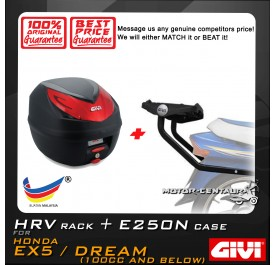 GIVI E250N TOP CASE + GIVI HONDA EX5 HRV HEAVY DUTY RACK