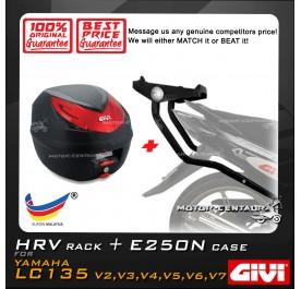 GIVI E250N TOP CASE + GIVI YAMAHA LC135 V2 HRV HEAVY DUTY RACK
