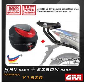 GIVI E250N TOP CASE + GIVI YAMAHA Y15ZR HRV HEAVY DUTY RACK