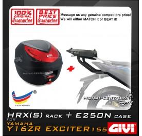 GIVI E250N TOP CASE + GIVI YAMAHA Y16ZR HRX EXTREME HEAVY DUTY RACK