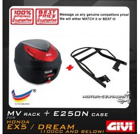 GIVI E250N TOP CASE + GIVI HONDA EX5 MV MONORACK